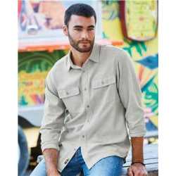 Burnside B8200 Long Sleeve Solid Flannel Shirt