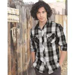 Burnside B8202 Long Sleeve Plaid Shirt