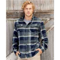Burnside 8219BS Snap Front Long Sleeve Plaid Flannel Shirt