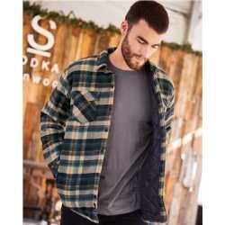 Burnside B8610 Quilted Flannel Jacket