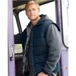Burnside B8701 Nylon Vest with Fleece Sleeves