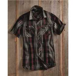 Burnside 9202 Short Sleeve Plaid Shirt