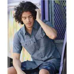 Burnside 9255 Chambray Short Sleeve Shirt