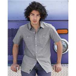 Burnside 9257 Mini-Check Short Sleeve Shirt