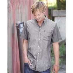 Burnside 9259 Stretch-Stripe Short Sleeve Shirt