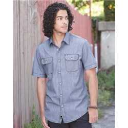 Burnside 9265 Dobby Stripe Short Sleeve Shirt