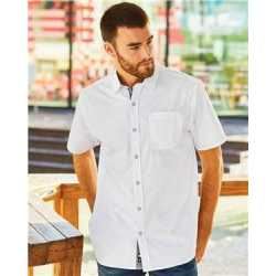 Burnside 9290 Peached Printed Poplin Short Sleeve Shirt