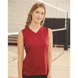 C2 Sport 5663 Women's Sleeveless V-Neck Tee