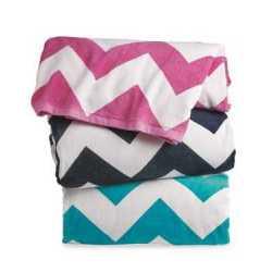 Carmel Towel Company C3060X Chevron Velour Beach Towel