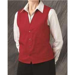 Chef Designs 1360 V-neck Button-Front Vest