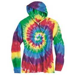 Dyenomite 430VR Tie-Dyed Hooded Pullover T-Shirt