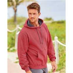 Fruit of the Loom SF77R Sofspun Microstripe Hooded Pullover Sweatshirt