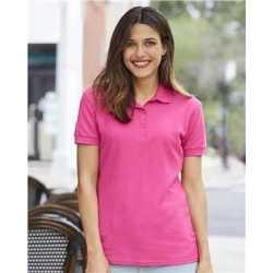 Gildan 82800L Premium Cotton Women's Double Pique Sport Shirt