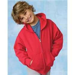 Hanes P480 ComfortBlend EcoSmart Youth Full-Zip Hooded Sweatshirt