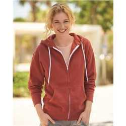 Independent Trading Co. AFX90UNZ Unisex Lightweight Full-Zip Hooded Sweatshirt