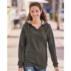 Independent Trading Co. PRM2500 Women's Lightweight California Wave Wash Hooded Sweatshirt