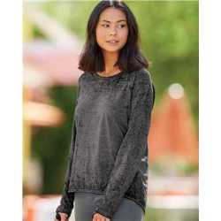 J. America 8118J Women's Zen Jersey Hi-Low Long Sleeve T-Shirt