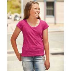 J. America 8129 Youth Glitter Short Sleeve T-Shirt