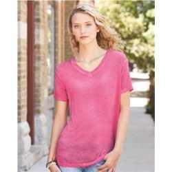J. America 8132 Women's Oasis Wash V-Neck T-Shirt