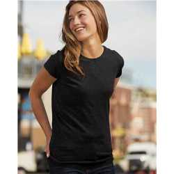 J. America 8138 Women's Glitter Short Sleeve T-Shirt