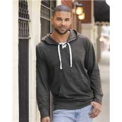 J. America 8231 Jersey Sport Lace Hooded Pullover