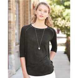 J. America 8232 Women's Oasis Wash Three-Quarter Sleeve T-Shirt