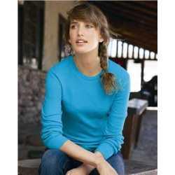 J. America 8234 Women's Cortney Long Sleeve Thermal T-Shirt