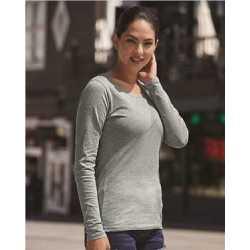 J. America 8236 Women's Glitter Long Sleeve T-Shirt