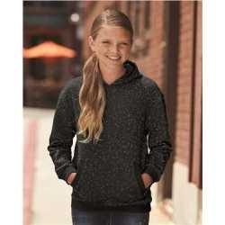 J. America 8606 Youth Glitter French Terry Hooded Sweatshirt