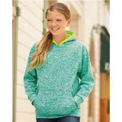 J. America 8610J Youth Cosmic Fleece Hooded Sweatshirt