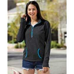 J. America 8617 Women's Cosmic Fleece Quarter-Zip Pullover