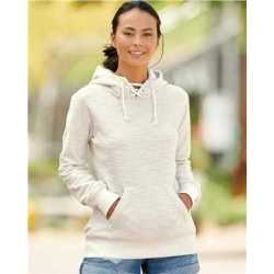 J. America 8694J Women's Shore French Terry Sport Lace Scuba Hooded Pullover