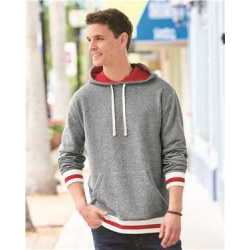 J. America 8701J Peppered Fleece Lapover Hooded Sweatshirt