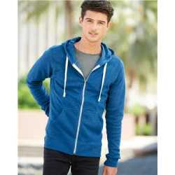 J. America 8872J Triblend Full-Zip Hooded Sweatshirt