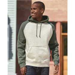 J. America 8885 Vintage Heather Hooded Sweatshirt