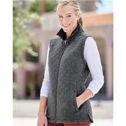 J. America 8892J Women's Quilted Full-Zip Vest