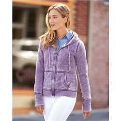 J. America 8913 Women's Zen Fleece Full-Zip Hooded Sweatshirt