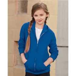 JERZEES 993BR NuBlend Youth Full-Zip Hooded Sweatshirt