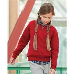 JERZEES 995YR Nublend Youth Quarter-Zip Cadet Collar Sweatshirt