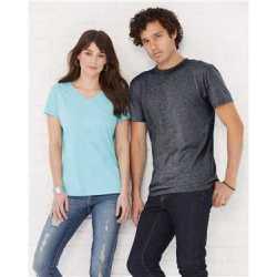 LAT 3591 Women's Harborside Melange V-Neck T-Shirt