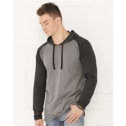 LAT 6917 Fine Jersey Long Sleeve Hooded Raglan T-Shirt
