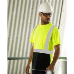 ML Kishigo 9162 Black Bottom Class 2 Short Sleeve T-Shirt