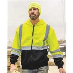 ML Kishigo JS102-103 Hi-Vis Full-Zip Hooded Sweatshirt