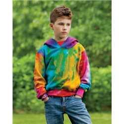 MV Sport 128Y Youth Classic Fleece Tie Dye Hood