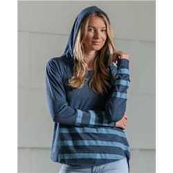 MV Sport W15407 Women's Eden Long Sleeve Hood Tee