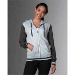 MV Sport W17124 Women's Snowflake Terry Full-zip