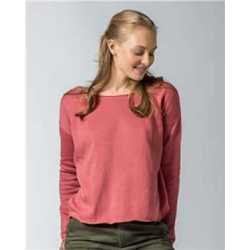 MV Sport W19147 Women's Terry Split Back Pullover