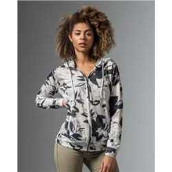 MV Sport W19441 Women's Slub Jersey Printed Full Zip