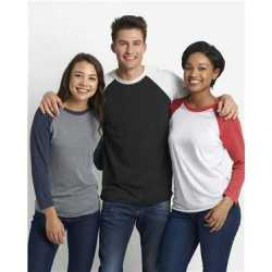 Next Level 6051 Unisex Triblend Three-Quarter Sleeve Raglan