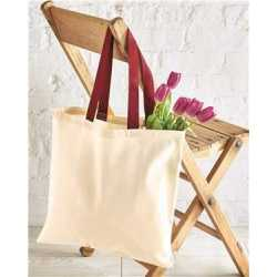 OAD OAD105 Contrast-Color Handle Tote